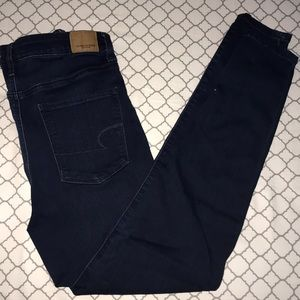 american eagle jeggings - no rips